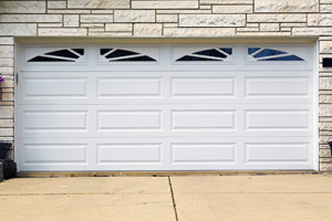 double white american garage door